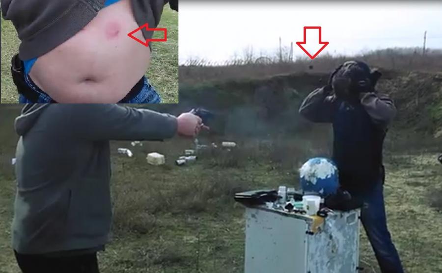 HUMÁN TESZT – 50 J gumilövedékes vs. lövedékálló mellény