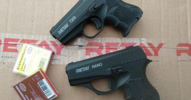 Retay T-205 és Nano 8 mm K gázpisztolyok